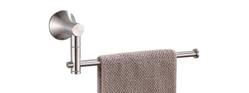 BESy Stainless Steel Bathroom Hand Towel Holder Bar with Swing Out Arm