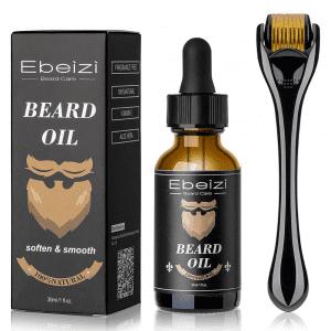 Ebeizi Beard Growth Kit with Derma Roller and Beard Oil