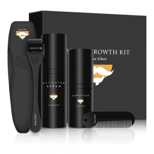 Jane Choi Mens Grooming Kit with Derma Roller for Beards
