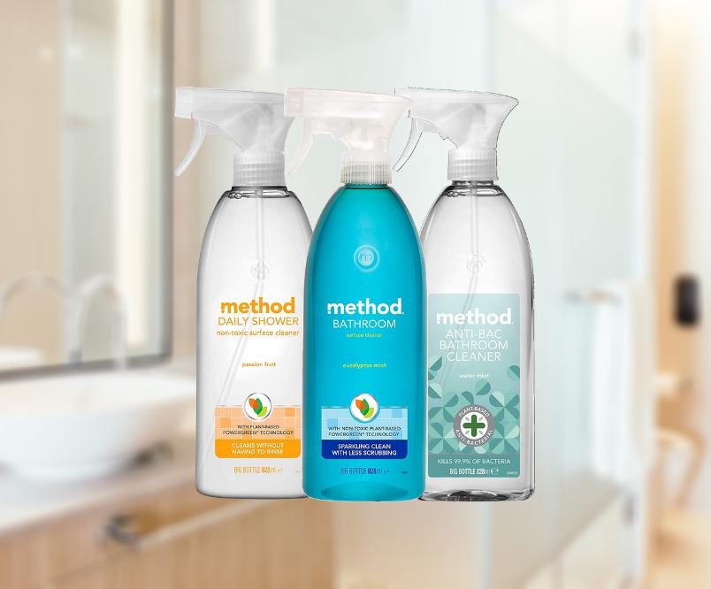 Three Method Bathroom Cleaners