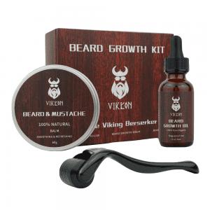 VIKICON Beard Growth Kit with Derma Roller for Beard and Beard Growth Serum