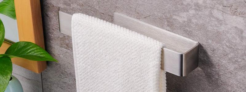 ZUNTO Self Adhesive Stainless Steel Bathroom Hand Towel Holder Rail