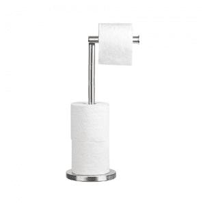 Tatkraft 2-in-1 Toilet Paper Holder Stand and Dispenser