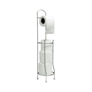 URBNLiving Chrome Toilet Roll Storage and Holder Stand